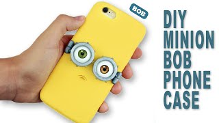 getlinkyoutube.com-DIY | Minion Bob Phone Case Tutorial - Polymer Clay How-to