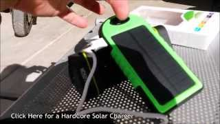 getlinkyoutube.com-(:Review:) Solar USB Battery Bank ~5000mAh~ Weather Resistant