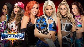 Alexa bliss VS All Divas - WRESTLEMANIA 33 - (SmackDown Women's Title  Match)