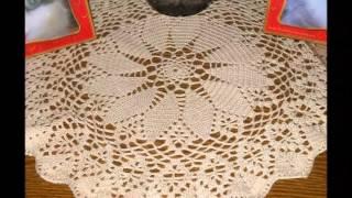 mantel de crochet para mesa redonda