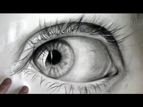 Realistic Eye on paper - Drawing Time lapse