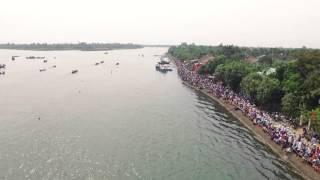 getlinkyoutube.com-[Flycam] Giải đua thuyền truyền thống xã Cẩm Kim 2016