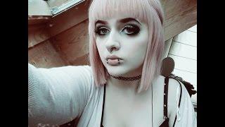 getlinkyoutube.com-Pastel Goth Make up Tutorial
