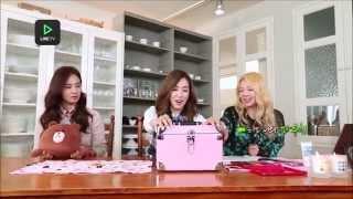 getlinkyoutube.com-150213 SNSD Tiffany Yuri Hyoyeon (YulTiHyo) - Fany's Makeup Set @ Line TV