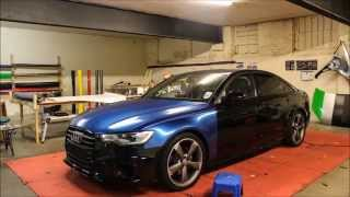 Audi A6 Black Edition Daytona Blue Wrap