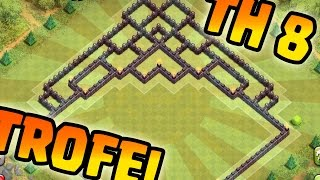 getlinkyoutube.com-BASE TROFEI PER MUNICIPIO 8 - TH8 TROOPHY BASE - Clash Of Clans - OhGamer