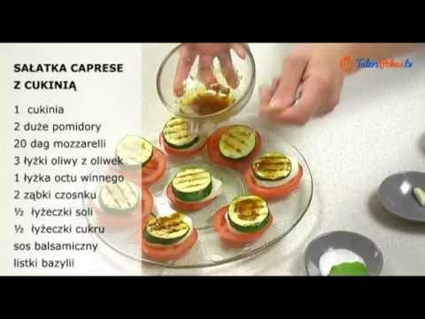 Sałatka caprese z cukinią