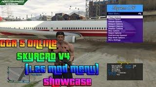 getlinkyoutube.com-GTA 5 Online - SkyAcro v4 (1.26 Mod Menu) Showcase!