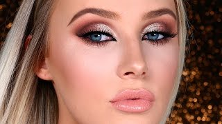NEW YEAR'S EVE Glam Makeup Tutorial! | Lauren Curtis