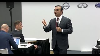 Carlos Ghosn's media Q&A at 2016 Detroit motor show