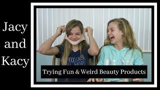 getlinkyoutube.com-Trying Fun & Weird Beauty Products ~ Jacy and Kacy