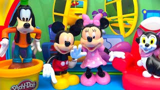 getlinkyoutube.com-Mickey Mouse Clubhouse part 1 of 6 with Minnie Mouse Goofy Figaro and Playdoh Play
