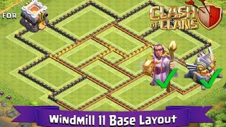 getlinkyoutube.com-Clash Of Clans: TH11 | BEST Farming Base Layout (With GW and Eagle Artillery) - Windmill 11