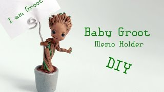 getlinkyoutube.com-Baby Groot Memo Holder Polymer Clay Tutorial (Guardians of the Galaxy)
