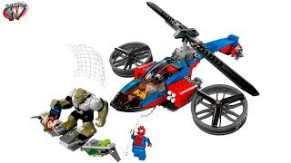getlinkyoutube.com-LEGO Ultimate Spider-Man: Spider Helicopter Rescue 76016 Toy Review