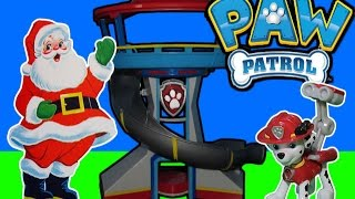 getlinkyoutube.com-PAW PATROL Nickelodeon Santa Visits Paw Patrol Look Out a Paw Patrol Parody Toy Video