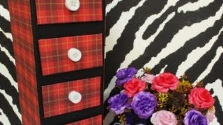 getlinkyoutube.com-DIY : #70 Mini Drawer For Accessories ♥