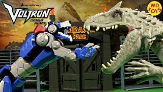 getlinkyoutube.com-New Voltron Legendary Blue Lion Vs Indominus Rex Jurassic World Netflix Unboxing
