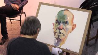 getlinkyoutube.com-Watercolor demonstration by Marek Yanai - Portrait of Tzahi