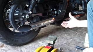 getlinkyoutube.com-Delboy's Garage, DIY Harley or Cruiser Bike, workshop lift.