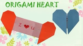 getlinkyoutube.com-Origami Heart with Message - Origami Easy