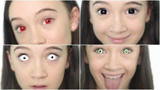 5 Crazy Creepy Color Contacts/Color Contact LOOKBOOK | Fiona Frills