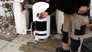 getlinkyoutube.com-Build a Giant Pot Belly Stove in an Hour out of a Propane Tank