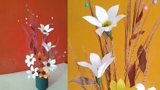 getlinkyoutube.com-DIY Projects : Best Out of Waste Idea for Home Decoration Using Dried Leaves & Broomstick
