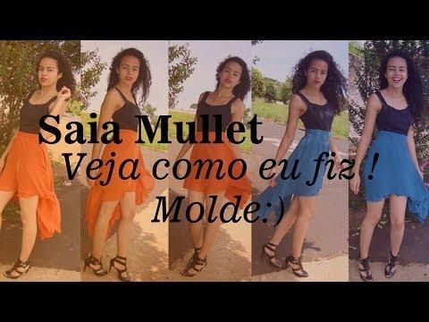 Molde Saia Mullet Godê por Alana Santos Blogger