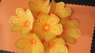 getlinkyoutube.com-Cómo hacer una tarjeta bouquet de flores.