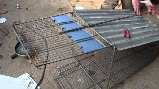 getlinkyoutube.com-How To Make A Fox Trap From A Shopping Trolley -- And First Live Catch