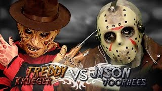 getlinkyoutube.com-Freddy Krueger vs Jason Voorhees. Batalla de Rap (Especial Halloween) | Keyblade