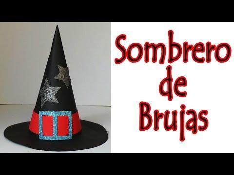 Manualidades para Halloween - Sombrero de bruja   Witch Hat