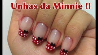 getlinkyoutube.com-Unhas inspiradas na Minnie!! - Tutorial por Danielle