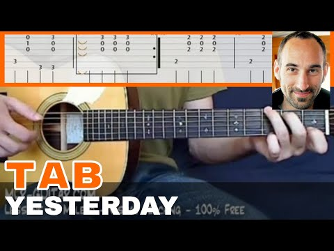 "Video-Tab ""Yesterday"" - MLR-Guitar Lessons"