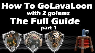 getlinkyoutube.com-How To GoLaLoon With 2 Golems vs Air Sweeper Part 1 - 3 stars guide - Clash Of Clans