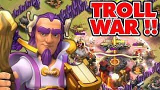 """getlinkyoutube.com-""""GRAND WARDEN TROLL WAR!"""" Clash Of Clans NEW HERO TROLLING!!"""