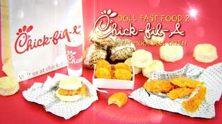 getlinkyoutube.com-DIY - How to Make: Doll Fast Food 2 - CHICK FIL A - Handmade - Doll - Crafts