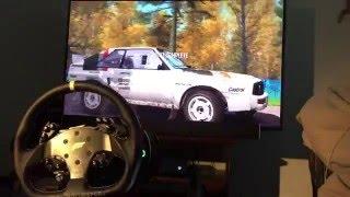 getlinkyoutube.com-DiRT Rally + Fanatec Clubsport V2 | Audi Sport Quattro Rallye