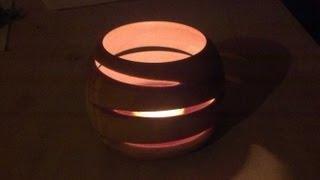 getlinkyoutube.com-Woodturning Eccentric or off-center tea light
