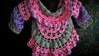 getlinkyoutube.com-Sweterek z koła na szydełku/ cardigan crochet Subtitles Eng