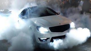getlinkyoutube.com-Mercedes C63 AMG - Burnout and FLAMES!
