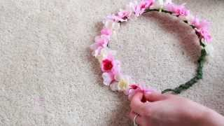 getlinkyoutube.com-DIY Flower Crown