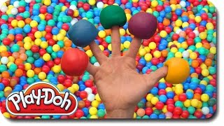 getlinkyoutube.com-Play Doh Finger Family Ball Pit Song for learning colors | Nursery Rhymes for Children and Kids