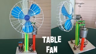 getlinkyoutube.com-How to Make a Revolving Table Fan at Home - Best out of waste