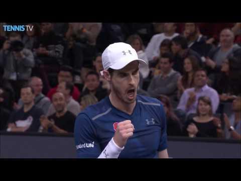 Murray Flicks Backhand Hot Shot Past Isner In Paris