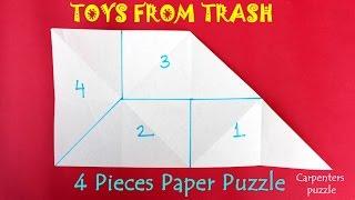 4 Pieces Paper Puzzle   English