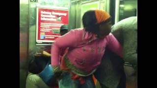 getlinkyoutube.com-Most Brutal Fight Beatdown on the Train Video Ever #NYC #Br