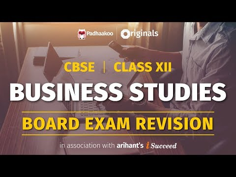 CBSE Exams 2020 | Business Studies Revision | Class 12