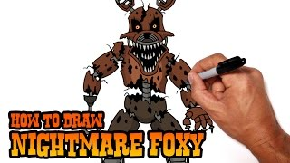 getlinkyoutube.com-How to Draw Nightmare Foxy (FNAF 4)- Step by Step